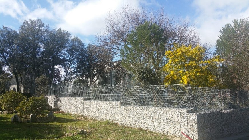 Cierre con gaviones Hoyo de Manzanares, Madrid
