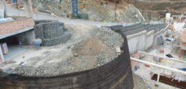 Muros de contención mediante gaviones y muros ecológicos en Real de La Quinta
