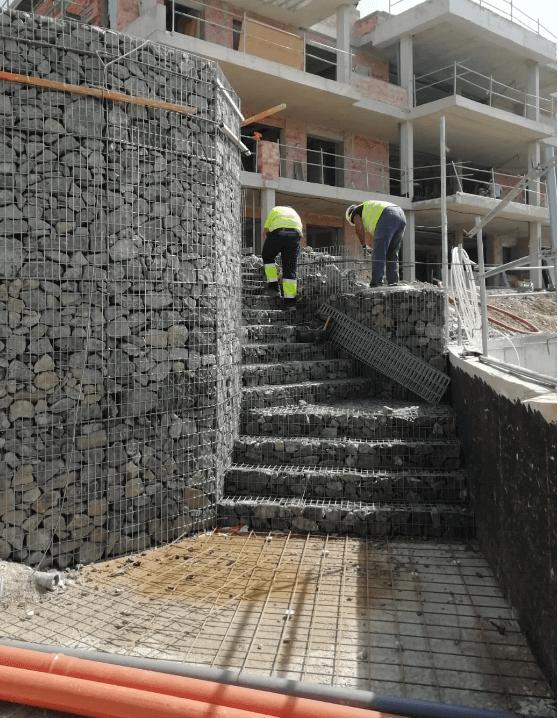 Gaviones de Piedra - Muro de Contención