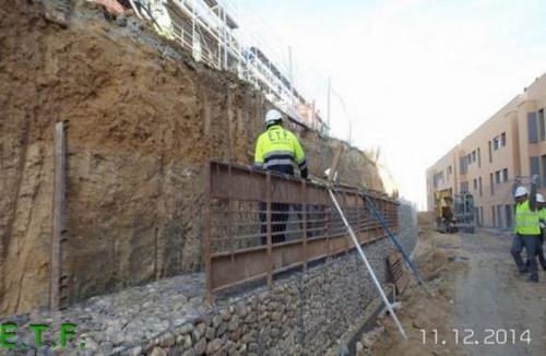 Estabilización de talud con gaviones - Muro de Gaviones ETF